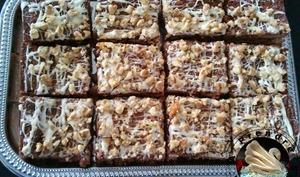 Brownies aux noix base au caramel