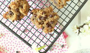 """Cookies """"3 ingrédients"""" à la cacahuète et au chocolat"""