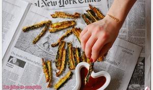 Frites de courgettes au four Amande et Parmesan