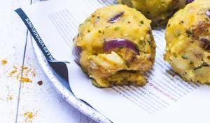 Boulettes à l'indienne fourrées au poulet Korma
