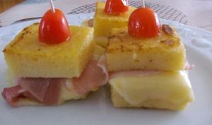 Croques de polenta à la raclette