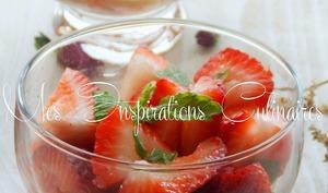 Salade de fraises a l'orientale