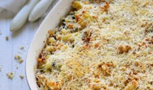 Courgettes au fromage, soufflées, gratinées