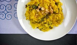 Un risotto épicé au poireau
