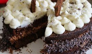 Gâteau mousse aux 3 chocolats et zestes d'orange
