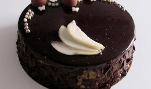 Entremet poire - chocolat