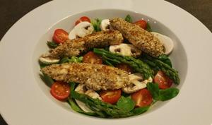Salade printanière de poulet au sésame