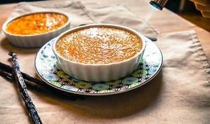 Crème brûlée au sirop d'érable vegan