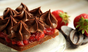 Tarte à la fraise et chocolat au Floc de Gascogne
