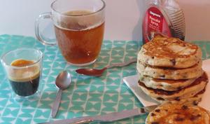 Pancakes gourmands aux pépites de chocolat mais santé