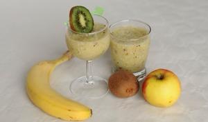 Smoothie pommes bananes kiwis