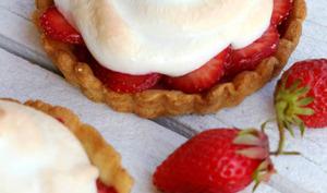 Tartelettes aux fraises meringuée