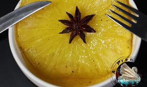 Ananas rôti au caramel d'épices de Christophe Adam