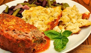 pain de viande au pesto de tomates et parmesan