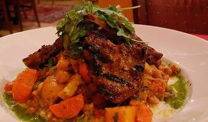 Couscous kabyle au mouton cardons, navets, pois chiches, carottes