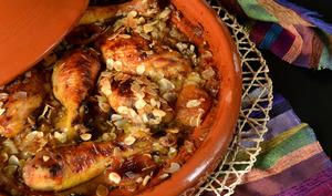 Tajine poulet aux épices et fruits secs
