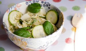 Salade de pâtes avoine aux légumes verts