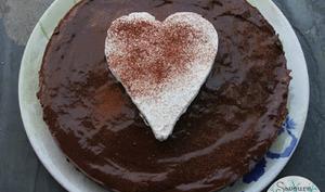 Tarte au pudding au chocolat