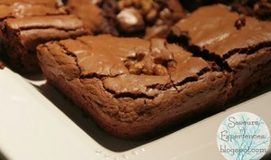 Brownies au Chocolat, Café et Noix