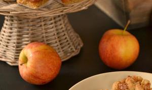 Carrés pommes et caramel façon crumble