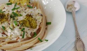 Spaghettis au Brocoli et crème d'amande