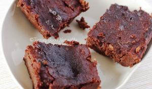 Brownie chocolat banane à l'okara d'amande
