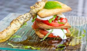 Millefeuille tomate mozzarella