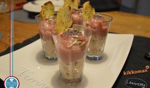 Verrine douceur Prunelle et thon Sukiyaki