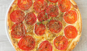 Tarte tomates - fromage - moutarde