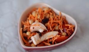 Salade de patate douce crue et pois chiche