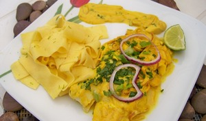Filets de Maigre sauce curcuma