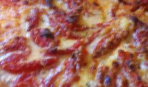 Quiche aux aubergines, tomates, mozzarella, gruyère