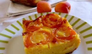Clafoutis aux abricots et fleur d'oranger