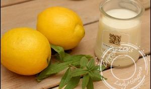 Yaourts maison verveine/citron