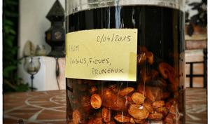 Rhum figues, pruneaux et raisins
