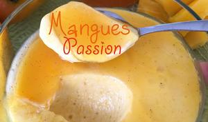La mousse de mangues et gelée de maracujas