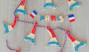 Sablés shortbread Tour Eiffel décorés pour le 14 juillet