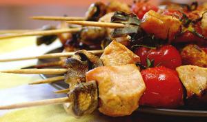 Brochettes de poulet Miel et Paprika