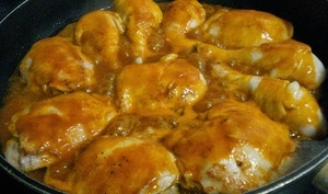 Poulet aux écrevisses, sauce Riesling