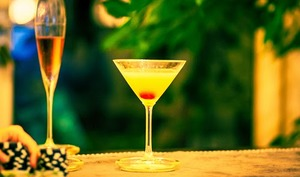 Punch au champagne, Kirsch et à l'ananas