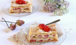Mille feuille aux fraises et mascarpone