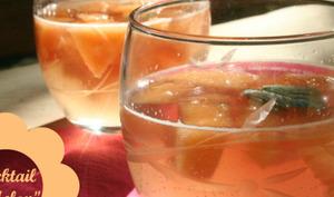 Cocktail sans alcool Melon-Menthe-Grenadine