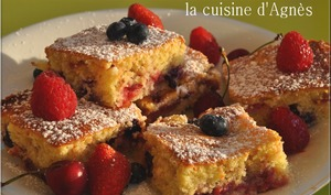 biscuit aux 4 fruits rouges