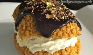 Choux gourmands crémeux Nutella chantilly mascarpone vanille