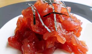 Tartare de thon à la sauce de soja