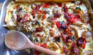 Tarte Méditerranéenne Aux légumes grillés, ricotta et fromage frais