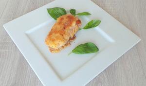 Escalopes de veau roulées à la mozzarella panées au parmesan