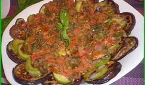 Salade d'aubergines et courgettes.