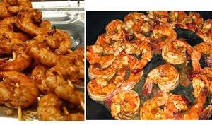 Crevettes aux champignons à la plancha ou au barbecue