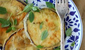 Aubergine ronde en tempura vegan